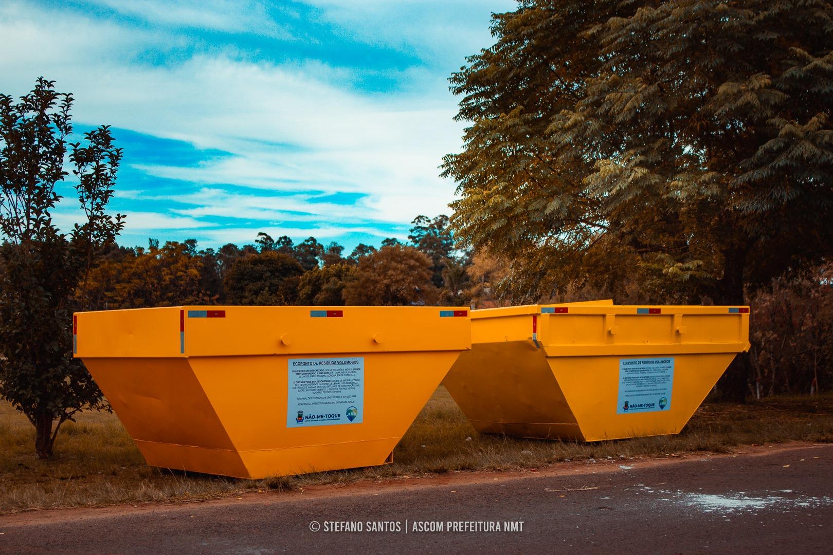 Prefeitura instala conteinêres para coleta de resíduos volumosos
