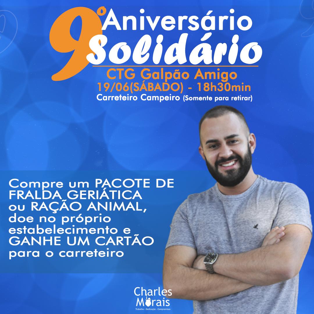 Charles Morais realizou a 9ª edição do Aniversário Solidário