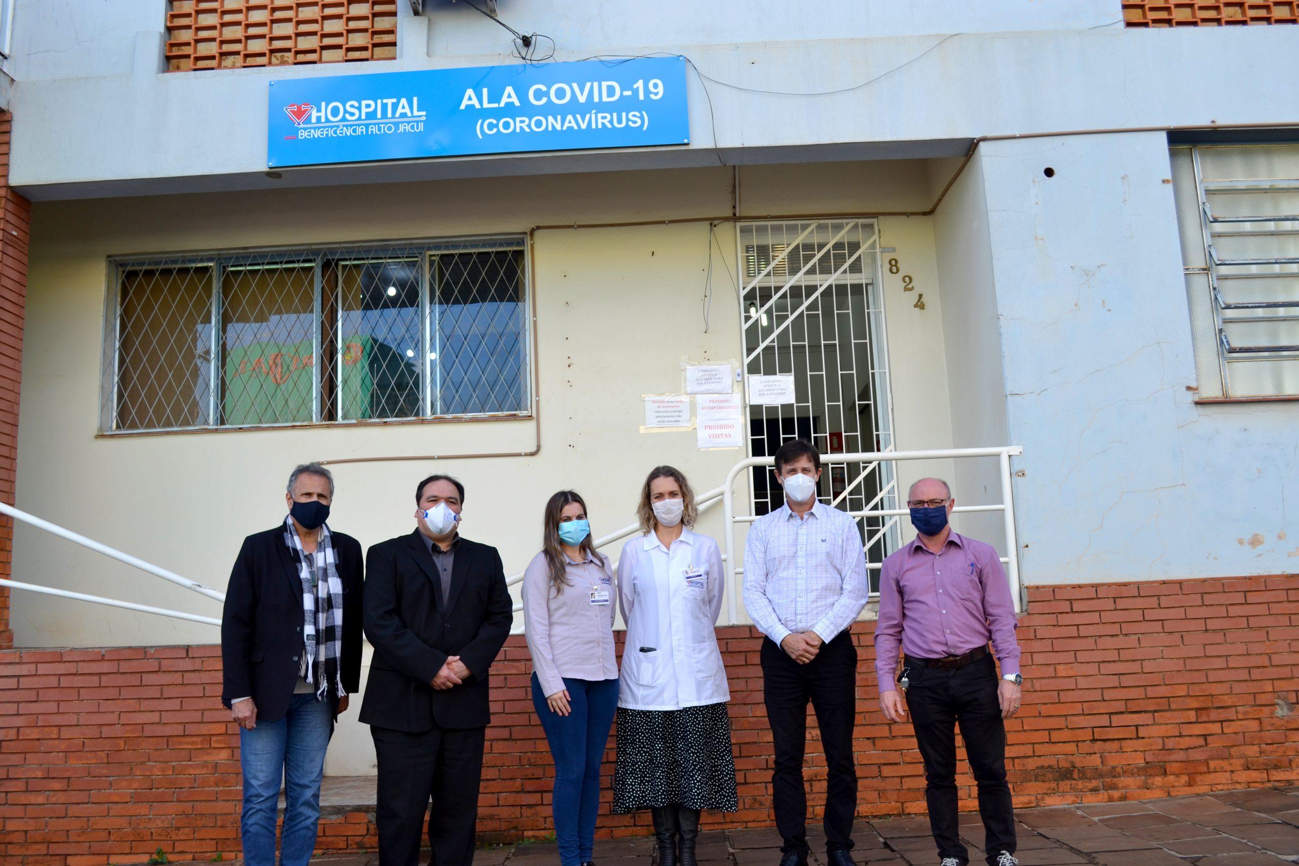 Comitiva da CPI dos medicamentos e insumos da Covid-19 realiza visita técnica ao Hospital Beneficência Alto Jacuí