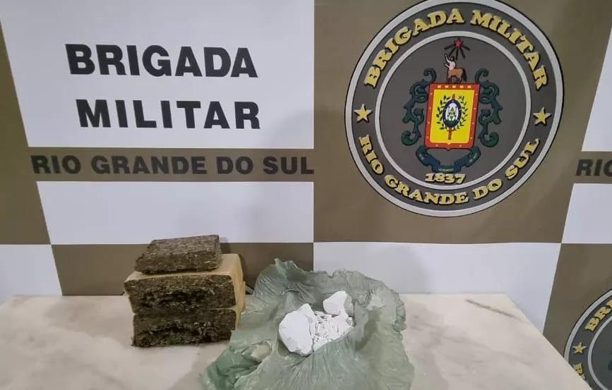 Brigada Militar de Espumoso prende homem por tráfico de drogas
