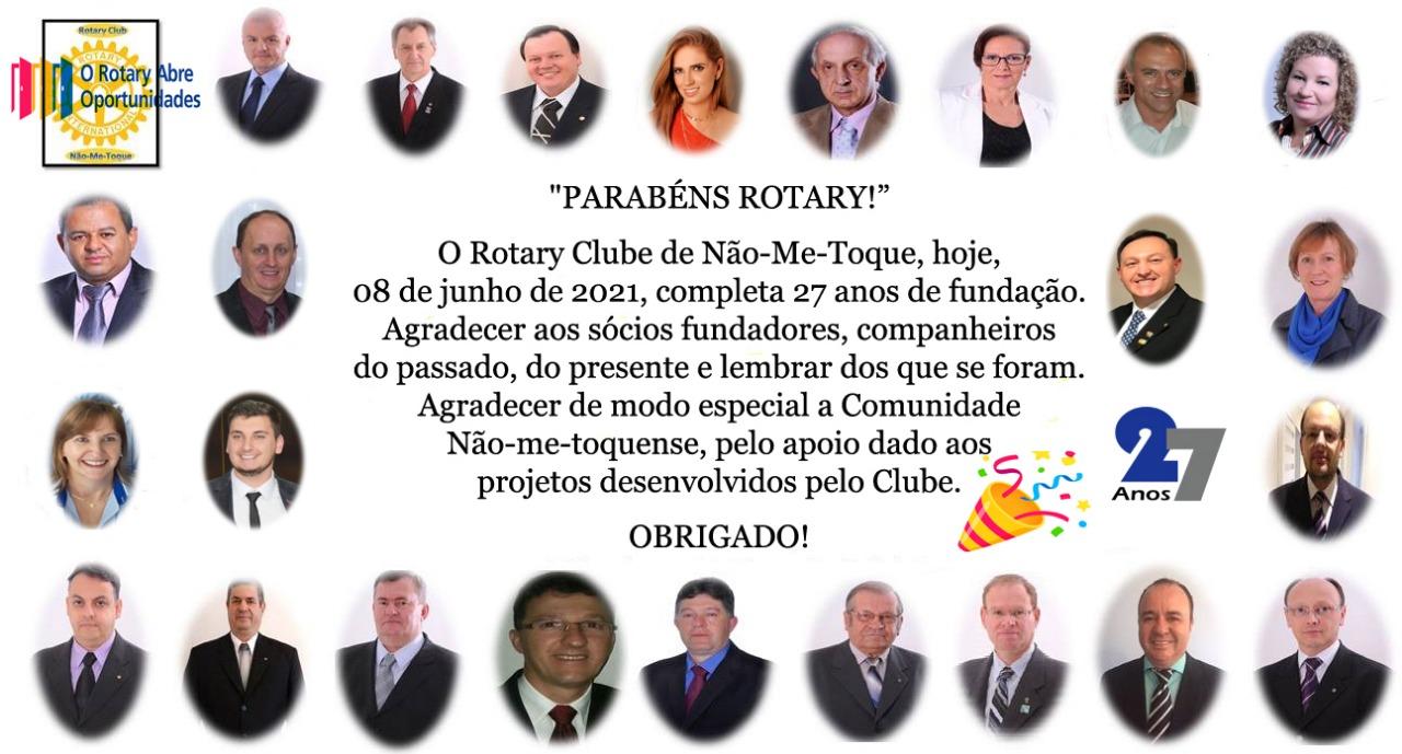 Rotary Clube de Não-Me-Toque completa 27 anos de atuação