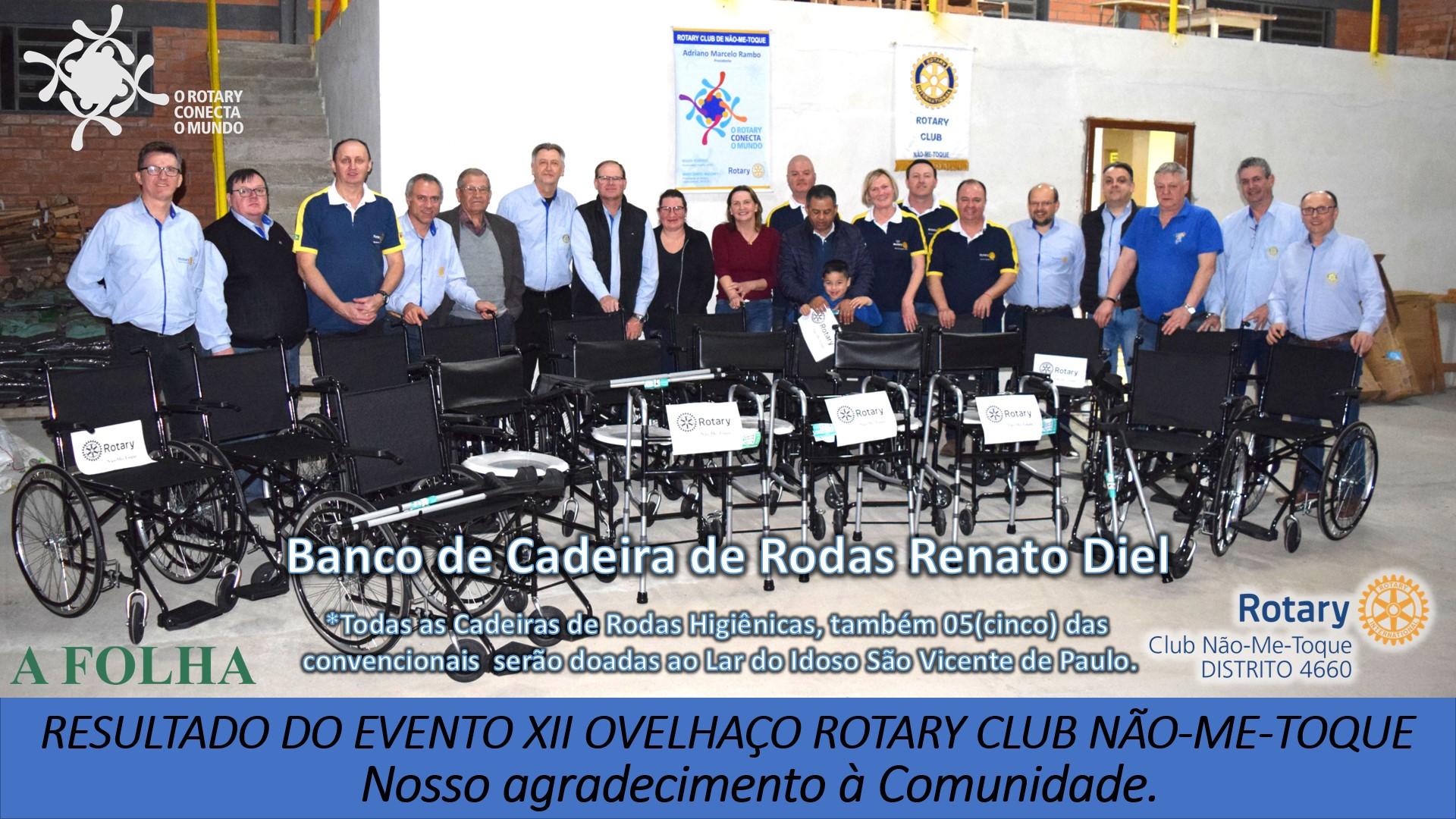 Rotary mantém Banco de Cadeiras de Rodas, Andadores e Muletas para empréstimo