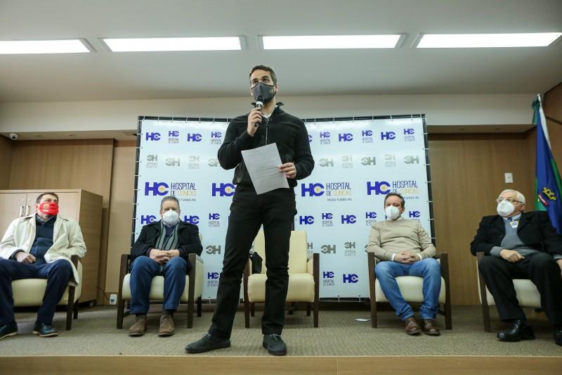 Governador anuncia repasse de R$ 14,9 milhões para hospitais de Passo Fundo