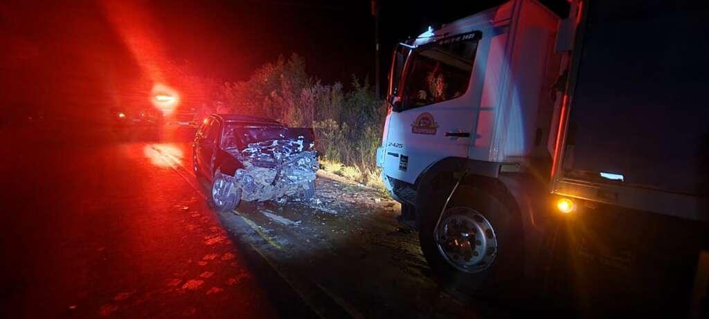 Acidente entre carro e caminhão deixa feridos entre Espumoso e Alto Alegre
