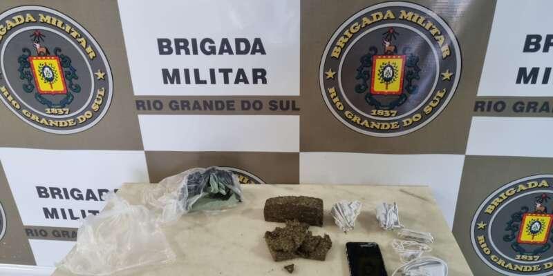 Brigada Militar prende dois por tráfico de drogas em Espumoso