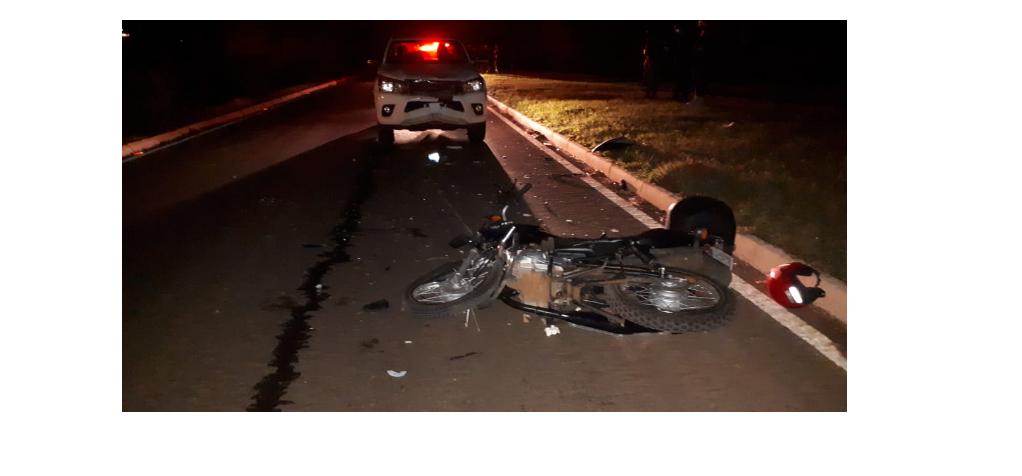 Colisão entre moto e caminhonete resulta em um morto na BR 468 em Três Passos