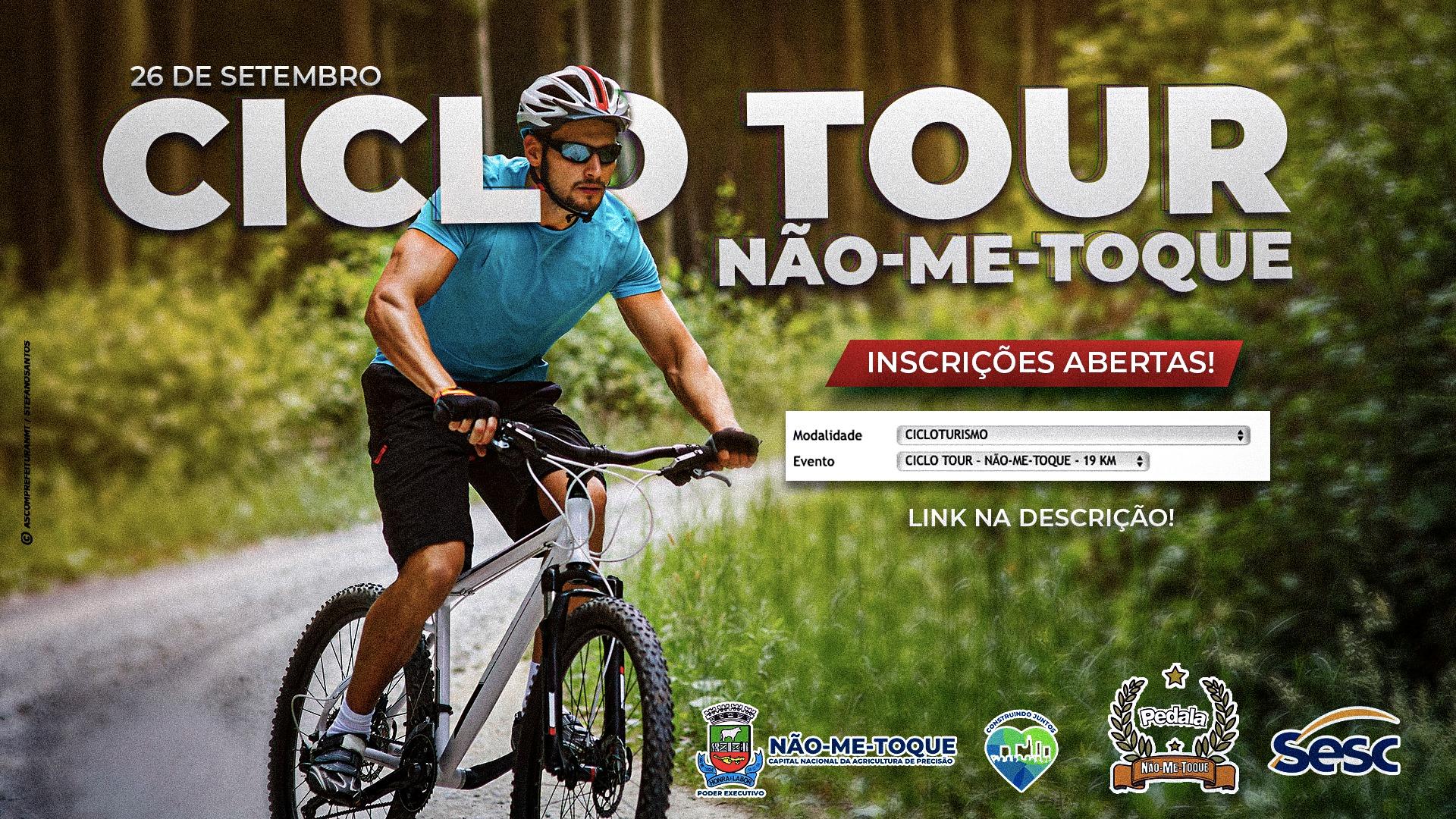 Link de inscrição para o 1° Ciclo Tour de Não-Me-Toque já está disponível