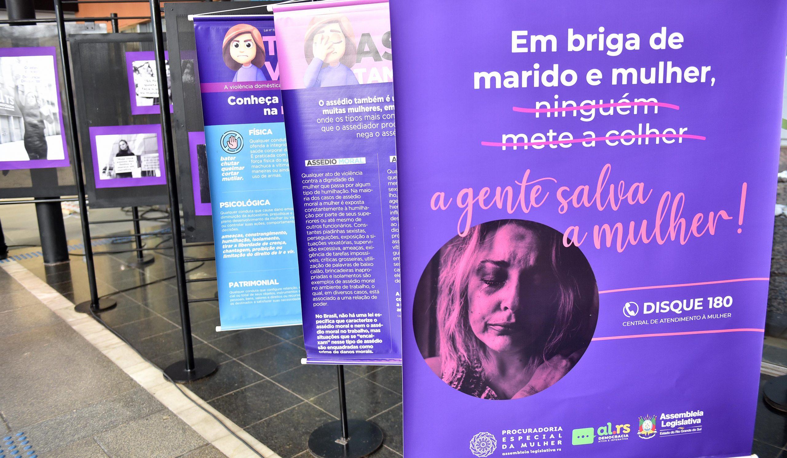 Procuradoria da Mulher da ALRS lança canal para denúncia de violência contra as mulheres