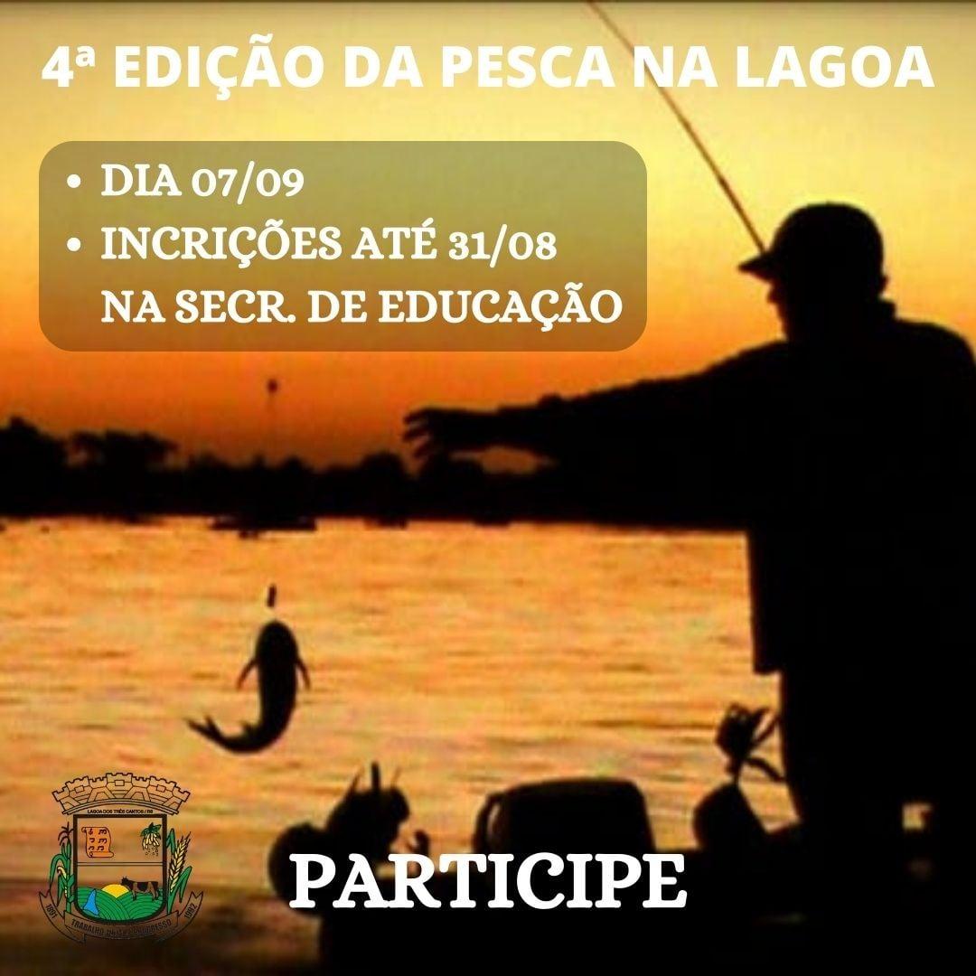 """Abertas inscrições para 4ª """"Pesca na Lagoa"""" apenas para três-cantenses"""