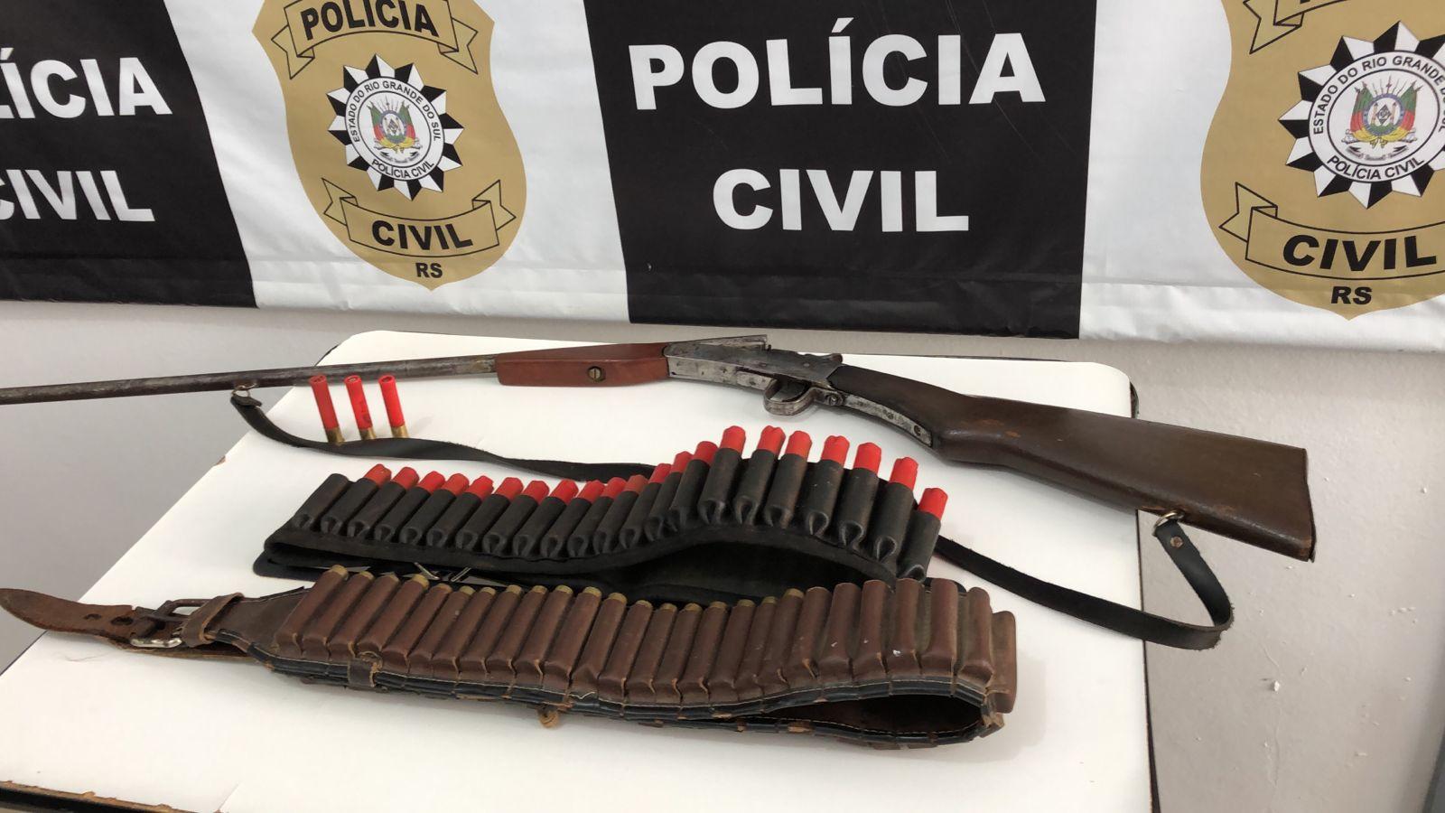 Polícia de Ibirubá prende homem em flagrante por posse ilegal de arma de fogo restrita