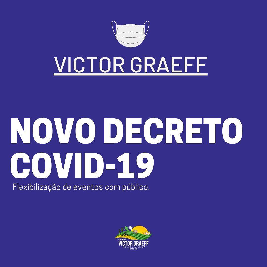 Novo decreto da Covid-19 em Victor Graeff flexibiliza eventos