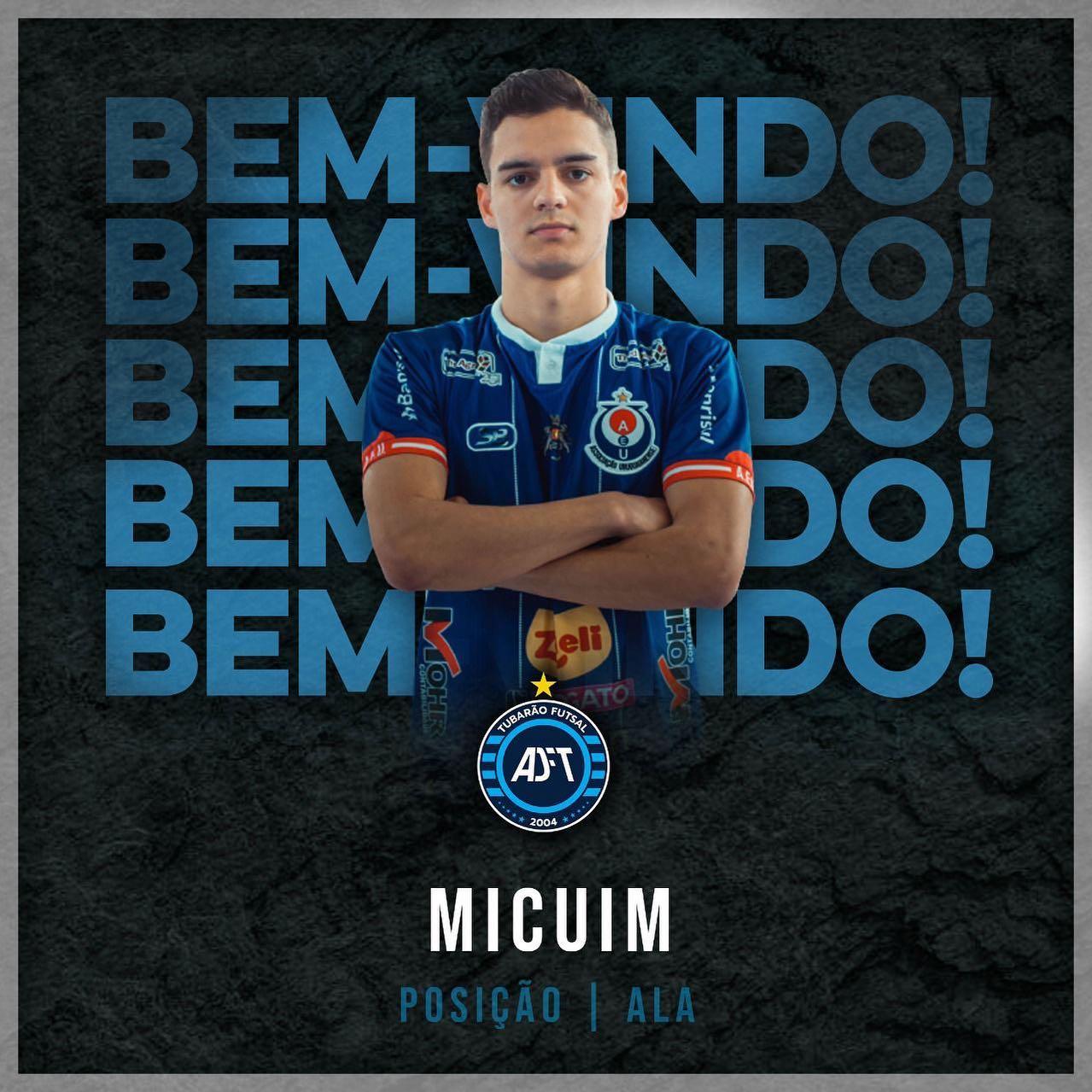 Micuim, atleta não-me-toquense, joga a Liga Nacional pelo Tubarão