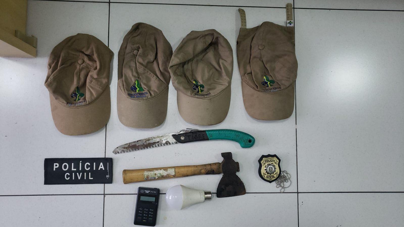 Polícia Civil prende indivíduo que furtou e vandalizou sede dos escoteiros
