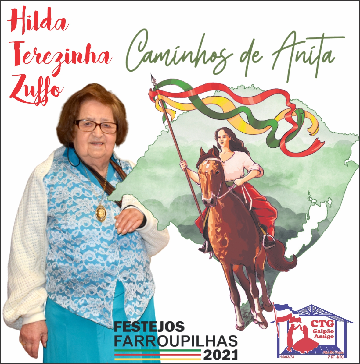 Festejos Farroupilha: programação abre dia 12 com homenagem às mulheres e inspiração em Anita Garibaldi