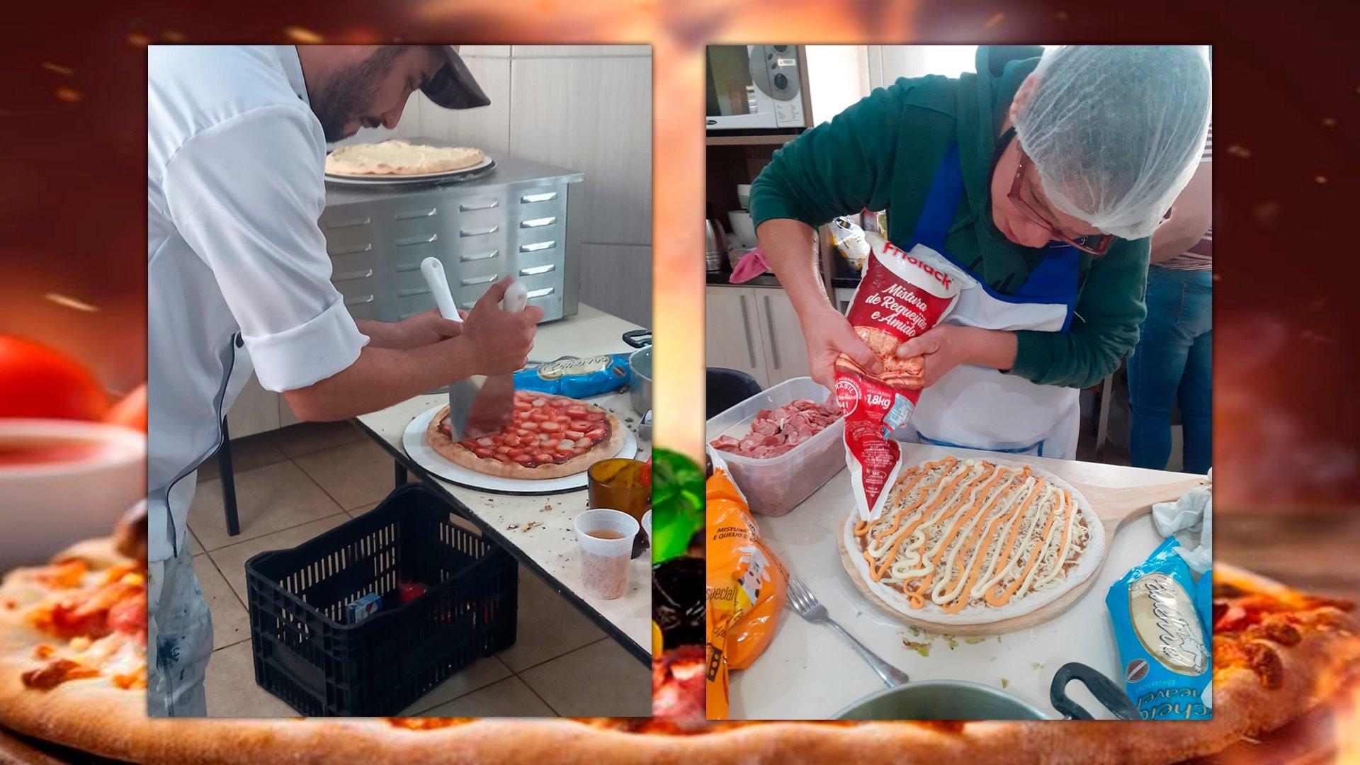 Assistência Social realiza treinamento de produção de pizzas com moradores do núcleo habitacional Alzírio Roos III