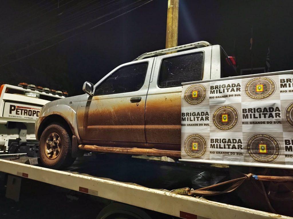 Caminhonete roubada em Selbach é recuperada pela BM em Passo Fundo